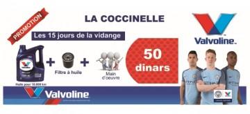 Promo  50 DT la vidange chez La Coccinelle la marsa