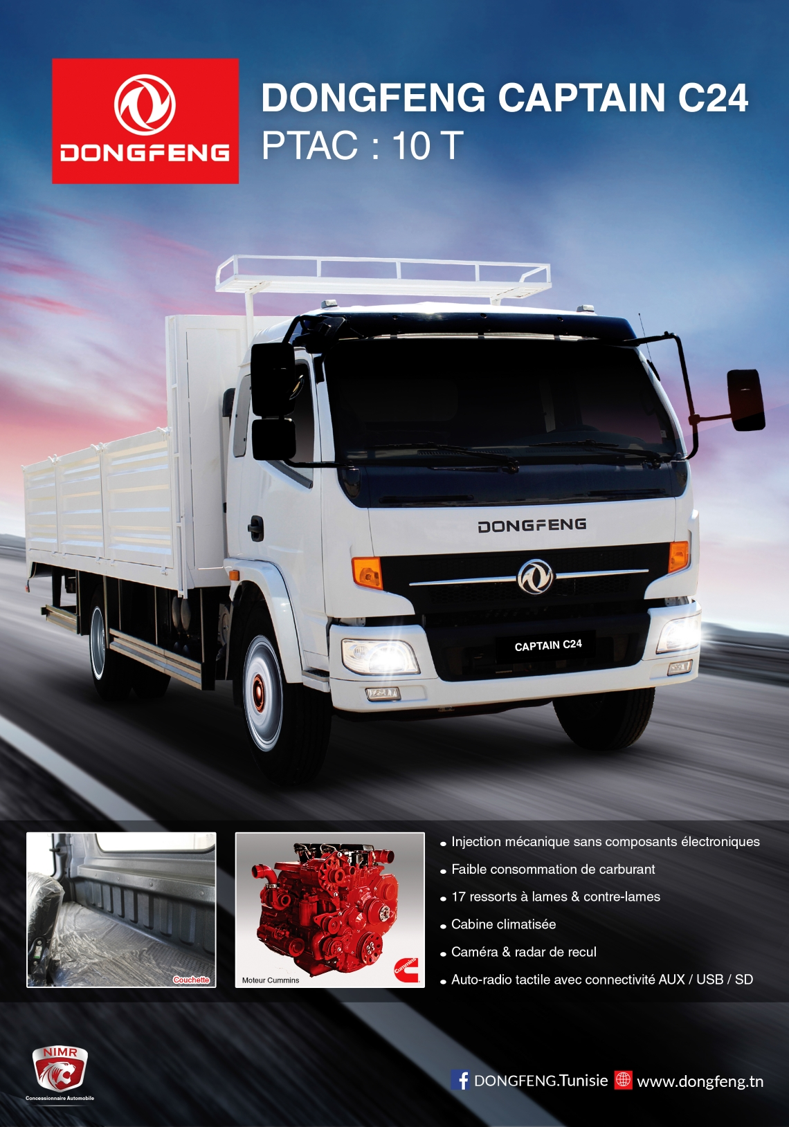 Prix camion Dongfeng C24 neuf Tunisie 1