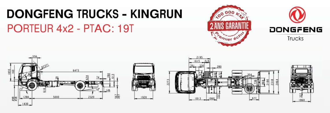 Prix camion Dongfeng Porteur 4×2 neuf Tunisie 3