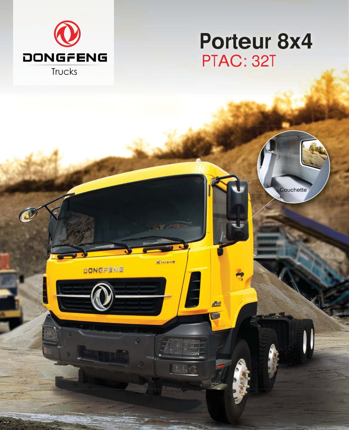 Prix camion Dongfeng Porteur 8×4 neuf Tunisie