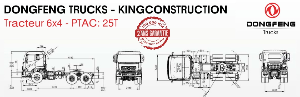 Prix camion Dongfeng Tracteur 6×4 neuf Tunisie 3